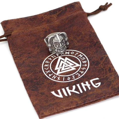 Image of Thor With Goat Amulet Ring - Rings Rings Vikings