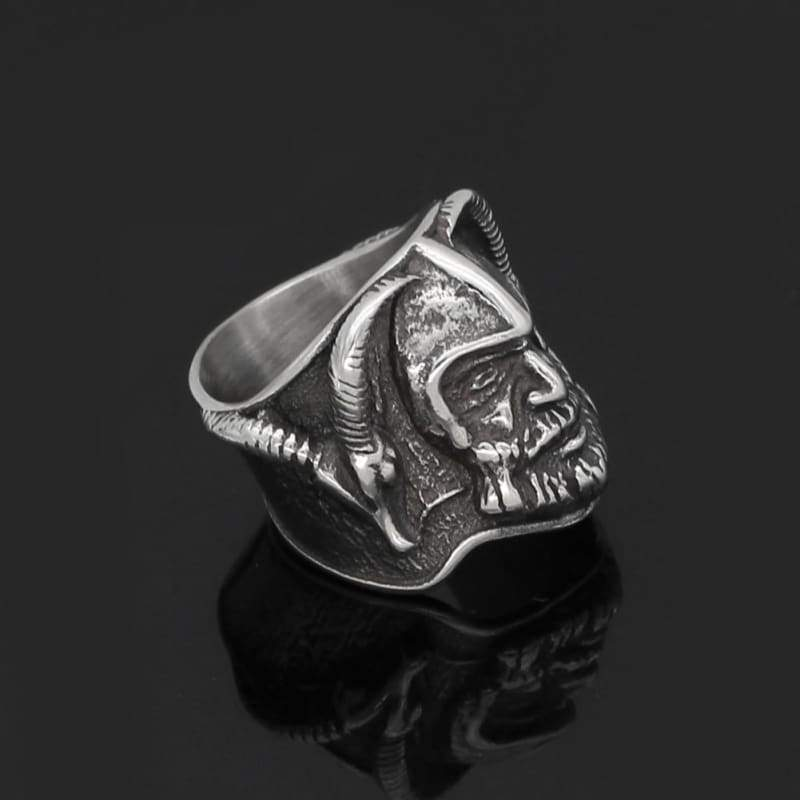 Thor With Goat Amulet Ring - Rings Rings Vikings