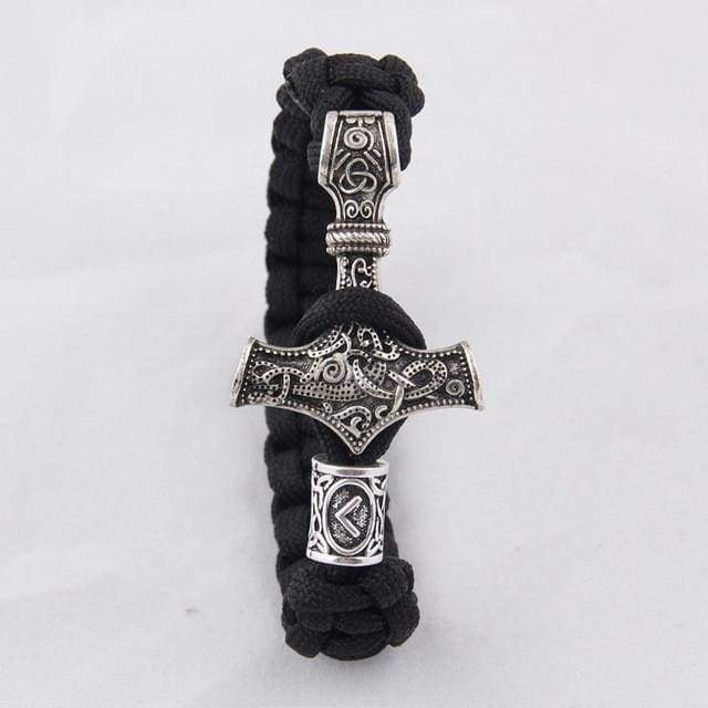 Thors Mjolnir Bracelet - As Photo Show / About 20Cm - Charm Bracelets Bracelet Vikings