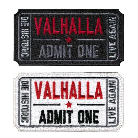 Ticket To Valhalla Tactical Vikings Patch - Patches Patches Vikings