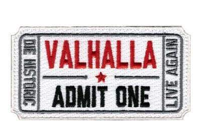 Ticket To Valhalla Tactical Vikings Patch - White - Patches Patches Vikings