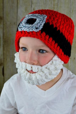 Image of Toddler Crochet Viking Hat With Beard - As Photo21 / S - Hats & Caps