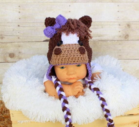 Toddler Crochet Viking Hat With Beard - As Photo6 / S - Hats & Caps