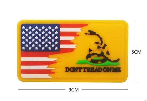 Usa Dont Tread On Me Pvc Patches - Yellow - Patches Patches Pvc