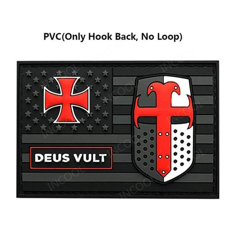 Usa Templar Knight Patches - 1 Only Hook No Loop - Patches Patches