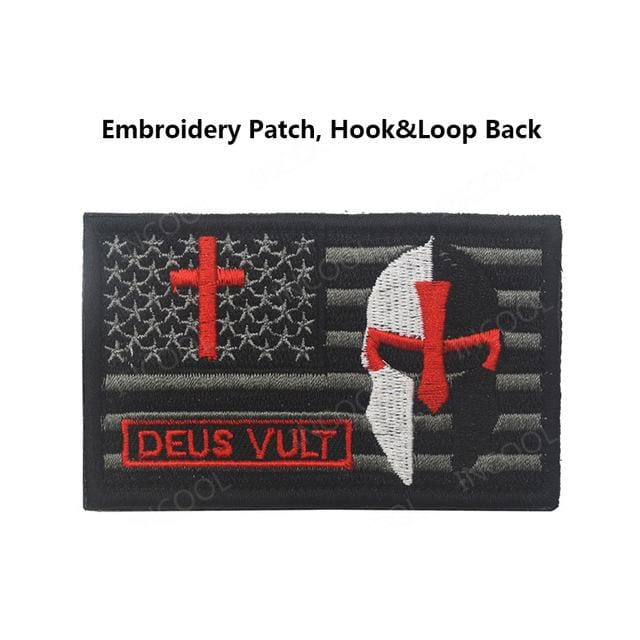 Usa Templar Knight Patches - 2Embroidery Hoo Look - Patches Patches