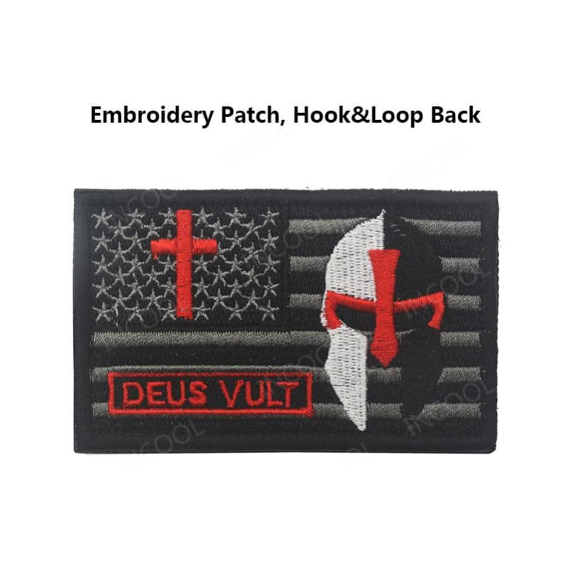 Usa Templar Knight Patches - Patches Patches