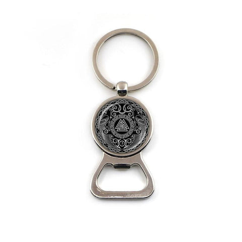 Valknut Bottle Opener Keychain - 1 - Key Chains Keychain Vikings