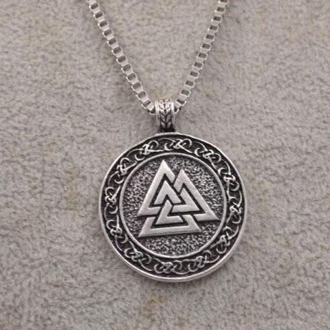 Valknut Norse Necklace - Viking Necklace Jewelry Necklace Vikings