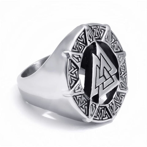 Image of Valknut Viking Ring - Stainless Steel - Rings Jewelry Rings Vikings