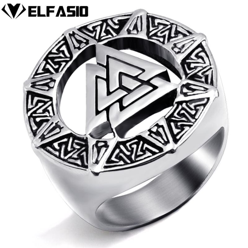 Valknut Viking Ring - Stainless Steel - Rings Jewelry Rings Vikings
