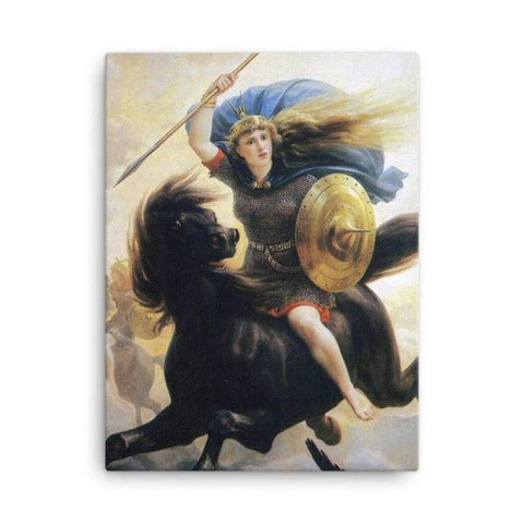 Image of Valkyrien Peter-Nicolai Arbo - 18×24 - Canvas Vikings
