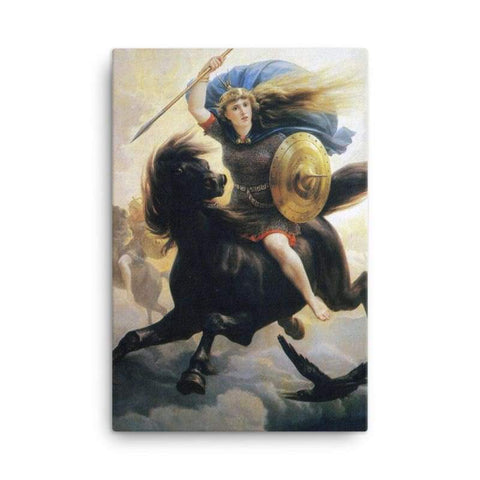 Image of Valkyrien Peter-Nicolai Arbo - 24×36 - Canvas Vikings