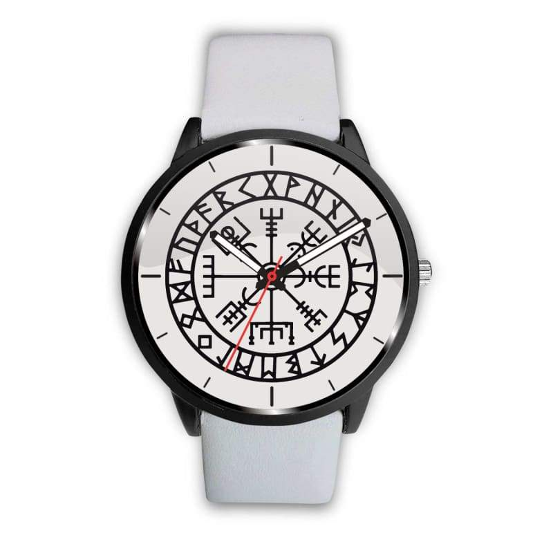 Vegvisir Viking Compass White Watch - Mens 40Mm / White - Watch Vikings Watch