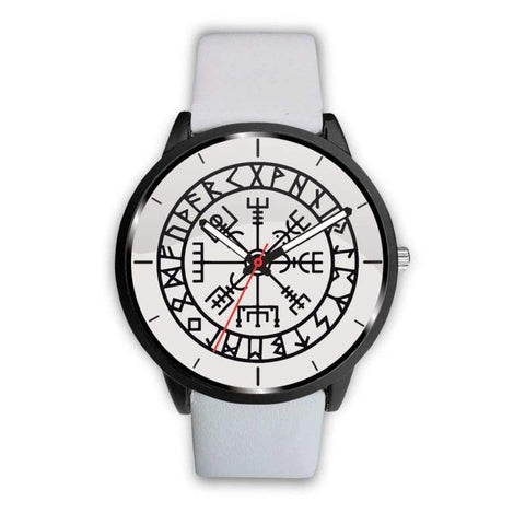 Image of Vegvisir Viking Compass White Watch - Mens 40Mm / White - Watch Vikings Watch