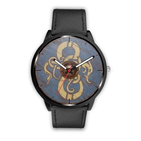Image of Viking Dragon Shield Watch - Mens 40Mm / Black - Watch Viking Watch