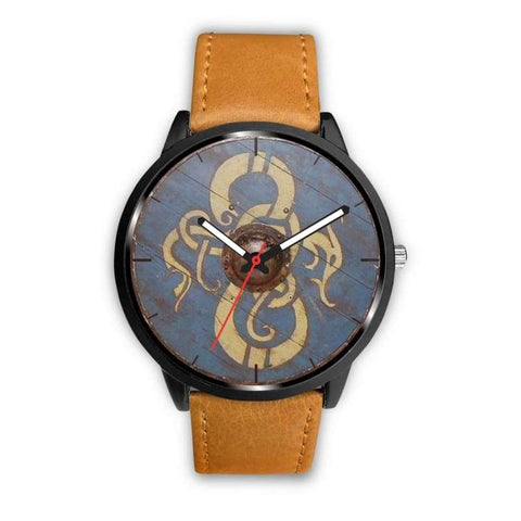 Image of Viking Dragon Shield Watch - Mens 40Mm / Brown - Watch Viking Watch