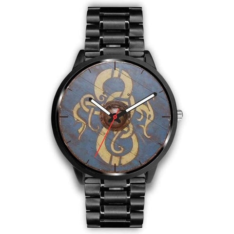 Image of Viking Dragon Shield Watch - Mens 40Mm / Metal Link - Watch Viking Watch