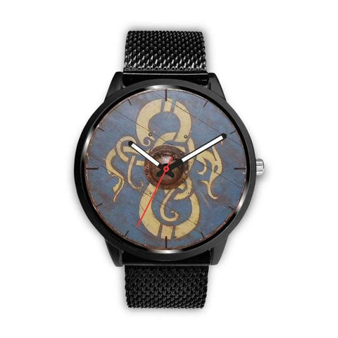 Image of Viking Dragon Shield Watch - Mens 40Mm / Metal Mesh - Watch Viking Watch