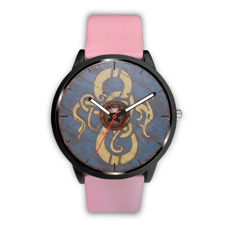 Viking Dragon Shield Watch - Mens 40Mm / Pink - Watch Viking Watch