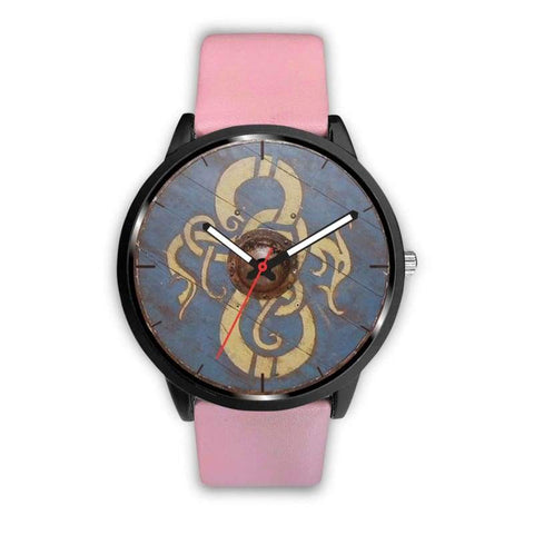 Image of Viking Dragon Shield Watch - Mens 40Mm / Pink - Watch Viking Watch
