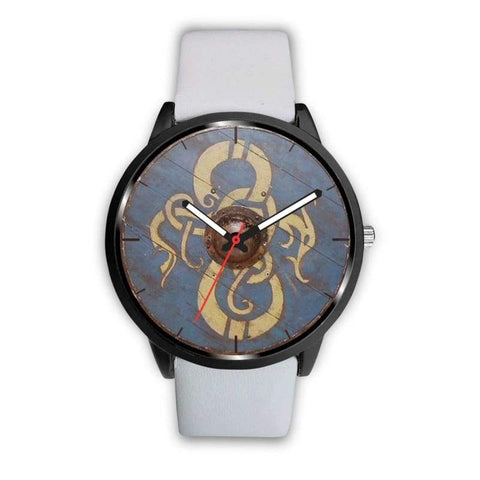 Image of Viking Dragon Shield Watch - Mens 40Mm / White - Watch Viking Watch