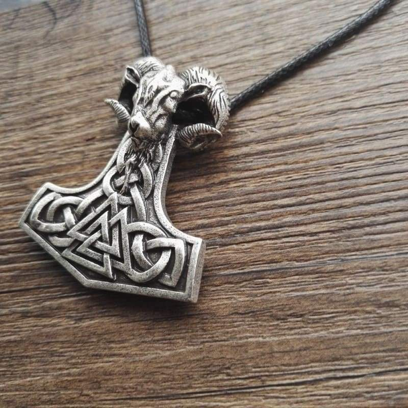 Viking Goat Mjolnir - Chain Necklaces Jewelry Vikings