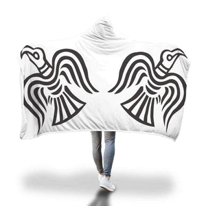 Viking Ravens Hooded Blanket - Hooded Blanket Blankets Hooded Blankets