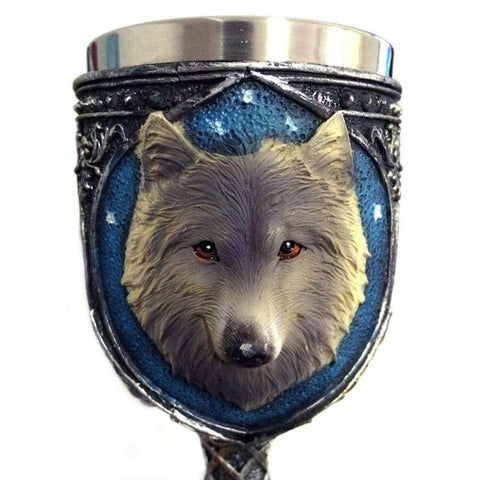 Image of Wolf Goblet Cup - Drinkware Drinkware