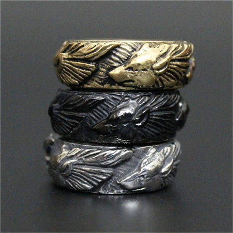 Image of Wolf Ring - Rings Jewelry Rings Vikings