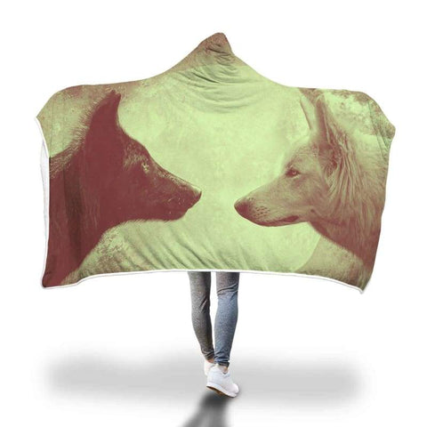 Image of Wolves Hooded Blankets - Hooded Blanket Blankets Hooded Blankets