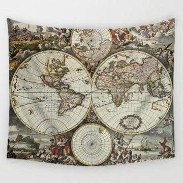 Image of World Map Tapestry - 3 / 150X130Cm - Tapestry Blankets Tapestry