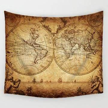 Image of World Map Tapestry - 4 / 150X130Cm - Tapestry Blankets Tapestry