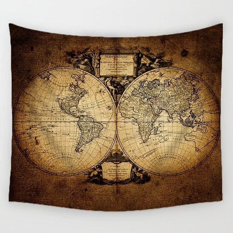 World Map Tapestry - Tapestry Blankets Tapestry