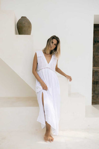 TULLY MAXI DRESS - WHITE