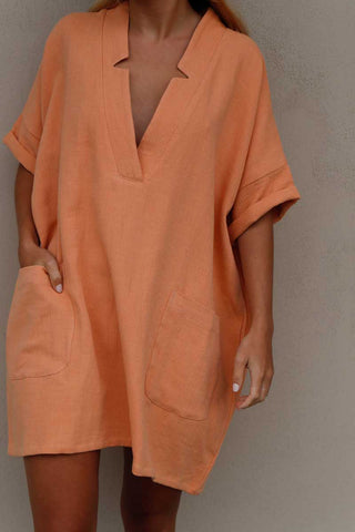 KIT MINI DRESS - APRICOT