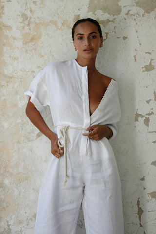 FARAWAY JUMPSUIT - WHITE