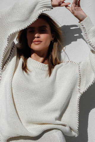 SUN RISING KNIT JUMPER - CREAM