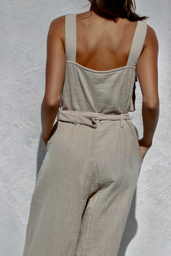 SUNDRENCHED JUMPSUIT - SAND