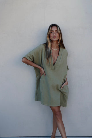 KIT MINI DRESS - OLIVE