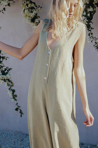 SUPERMOON JUMPSUIT - OLIVE
