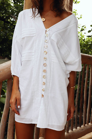100% ORGANIC COTTON SURYA MINI DRESS