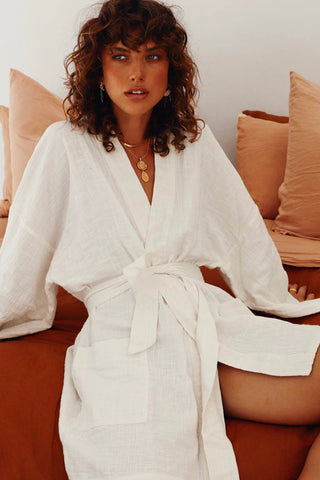 MINI SUMMER ROBE - WHITE