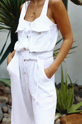 SUNDRENCHED JUMPSUIT - WHITE