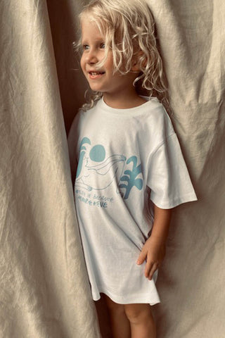 NATURE IN BALANCE KIDS TEE 100% ORGANIC COTTON  - WHITE