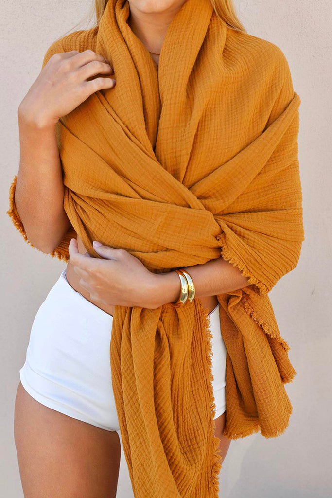 COTTON GAUZE THROW