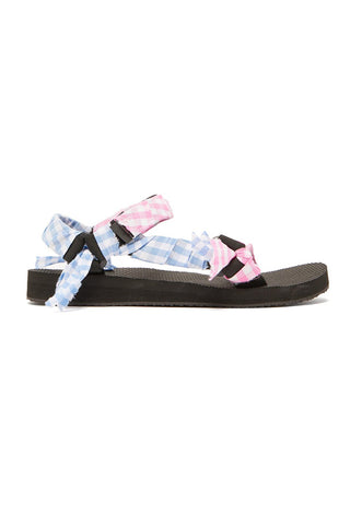 ARIZONA LOVE SANDALS VICHY BLUE/PINK
