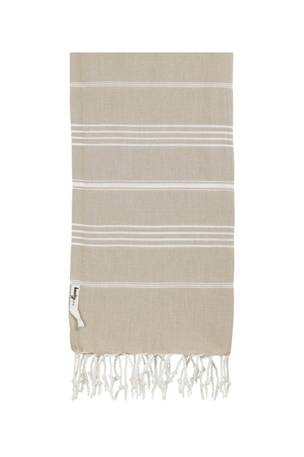KNOTTY ORIGINAL TURKISH TOWEL IN TAUPE