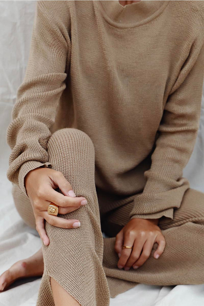 NOMADE KNIT PANT - TAN