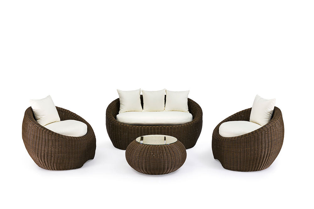 ... Ansan Outdoor Furniture Bondi 4 Piece Outdoor Wicker Sofa Set ...